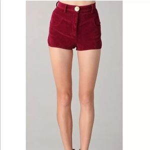 LOVER the Label Ruby Corduroy Ono Shorts.